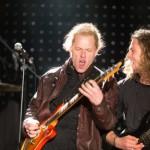 zwei Musiker von der Band Grüttrock